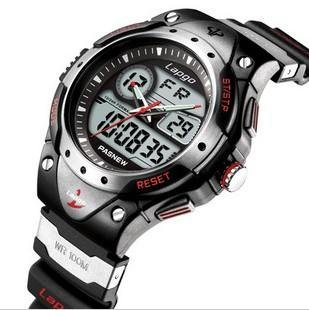 PASNEW Water-proof Dual Time Student Sport Watch