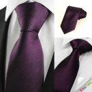 New Striped Plum Purple Men's Tie Formal Suit Necktie Wedding Holiday Gift #0024