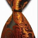 New Brown Paisley JACQUARD WOVEN Men's Tie Necktie
