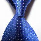 New Royal Blue Crossed JACQUARD WOVEN Men's Tie Necktie