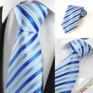 Luxury Striped Royal Blue JACQUARD Men's Tie Necktie Wedding Holiday Gift #0029