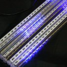 Blue Color LED Meteor Shower Rain Tube Lights Outdoor Tree Decoration
