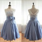 Lace Dresses, Short Prom Dresses, Bridesmaid Dress, Fashion Evening Dress, Taffeta Wedding Dresses