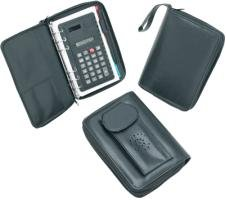 Leather Organizer with Cell Phone Pouch Incl. Ball Point pen- caculator Plus