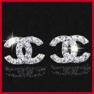 Classic Logo Style Letter Alphabet Italian Earrings