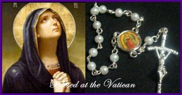 Authentic Italian Rosary Bracelet Glass Pearl Vatican Catholic c-1