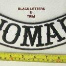 Nomad Rocker Black Outlaw Biker Motorcycle Club Gang MC Patch Biker Vest jacket.