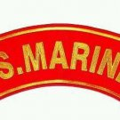 US. Marines Patch Top Rocker For Jacket Vest Motorcycle Biker Marines Patches.