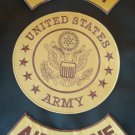 US Army Airborne Patches Set Rockers and Center Patch New style Free shipping
