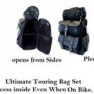 Jumbo Motorcycle SissyBar Bags Luggage Rack Ultimate Touring Pack Set  Travel