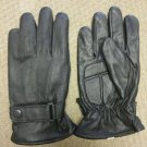 Gel Palm Lambskin Leather Motorcycle Winter Gloves Thinsulate LINED snap closer