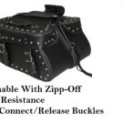 Detachable Motorcycle Saddlebags 2 Strap For Harley Dyna & Softail Models # 217