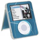 Blue Neo Icon Ipod Nano 3G hard Kickstand Case Cover protector Clear New
