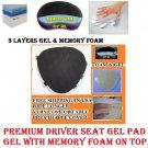 Motorcycle Driver Seat Gel Pad for Harley Davidson Fat Boy Memory Foam & Gel New
