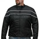 Men's Motorcycle Jacket front Reflective stripes Vents Zipout Liner new