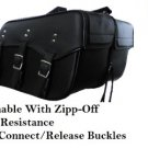 Detachable  Leather Motorcycle Saddlebags Quick release Zip Off  Slant # 212 New