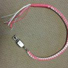 """Biker whip motorcycle Get back Get back Whips Real Leather White & Pink New 38"""""""