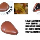 Motorcycle Gel Seat Solo For Harley Bobbers hardtail New with Mounting Hardware