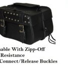 Detachable Motorcycle Saddlebags 2 Strap Quick release Zip Off  studded # 219