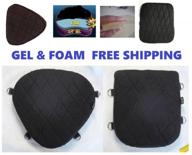 Motorcycle Seat Gel Pads Driver Back Or Both Seats For Harley Softail Deluxe