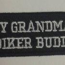 MY GRANDMA'S BIKER BUDDY for Children Motorcycle biker Patches sew on jacket ves