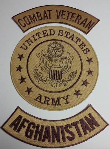 Combat Veteran Afghanistan Back Patches set Vet Biker motorcycle vest ,Jacket