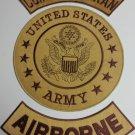 Combat Veteran Airborne Back Patches set Vet Biker motorcycle vest  or Jacket