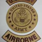 US ARMY AIRBORNE Full Back Patches set for Biker motorcycle vest or Jacket New