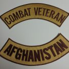 Combat Veteran Afghanistan Patches Rockers set for vest or Jacket NEW Colors