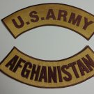 US ARMY Afghanistan Patches Rockers set for vest or Jacket COMBAT COLORS NEW