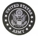 "US Army Back Patch Large 10"" size Black & White For Motorcycle Vest Or Jacket"