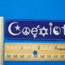 COEXIST PATCH MULTI RELIGION CHRISTIAN JEWISH ISLAM PEACE BUDH HARMONY
