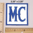 MC PATCH BLUE WHITE FOR 1% OUTLAW MOTORCYCLE CLUB GROUB GANG