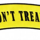 Dont Tread On Me Patch Top Rocker For Biker Motorcycle Tea Party Snake Symbol