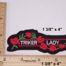 TRIKER LADY  PATCH FOR BIKE RALLY FUNNY BIKER MOTORCYCLE JACKET VEST