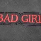 BAD GIRL PATCH BADGE EMBLEM BLACK WITH RED FOR MOTORCYCLE BIKER VEST JACKET