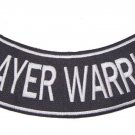 PRAYER WARRIOR ROCKER PATCH FOR VEST JACKET CHRISTIAN BIKERS PATCHES