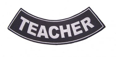 TEACHER ROCKER PATCH BACK PATCH FOR VET BIKER MOTORCYCLE VEST JACKET