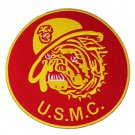 US MARINES CORPS MARINED BULL DOG MASCOT LARGE PATCH FOR VEST JACKET NEW