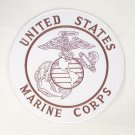 US MARINES CORPS LARGE WHITE BACK PATCH MARINE PATCHES FOR VEST JACKET NEW