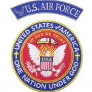 US AIR FORCE ROCKER PATCHES SET ONE NATION UNDER GOD MOTORCYCLE JACKET VEST