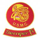 RED US MARINES CORPS SEMPRE FI USMC MARINES BULL DOG PATCHES FOR VEST JACKET NEW