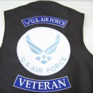 LARGE 3 PC US AIR FORCE VETERAN ROCKERS BACK PATCHES SET MOTORCYCLE JACKET VEST