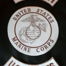 US MARINES CORPS PATCH ROCKER MARINES SEMPRE FI PATCHES FOR VEST JACKET NEW