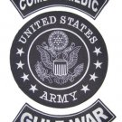 US ARMY COMBAT MEDIC GULF WAR BACK PATCHES FOR VETERAN VET BIKER VEST JACKET