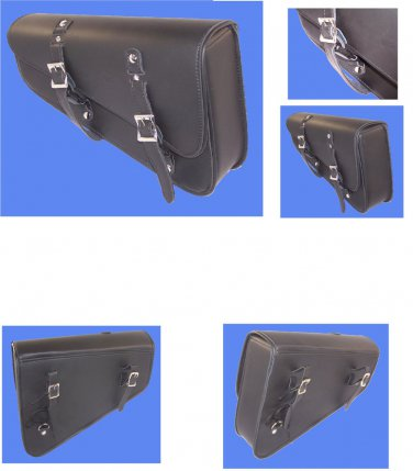 MOTORCYCLE Leather Solo Bag Swingarm SIDE Bag for Harley Sportster PLAIN  #790