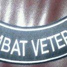 "Combat Veteran Rocker Patch Biker Motorcycle Patches for Vest Jacket size 11"""