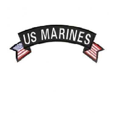 US Marines Patch top Rocker US flag on sides for Vest Jacket 10 inch