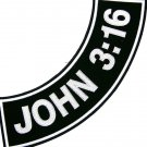 JOHN 3:16 Patch Rocker For Christian Patches Vest jacket Bottom Side Rocker Blac