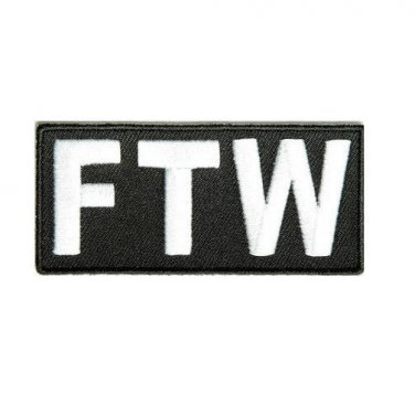 FTW Patch F@@K The World MC Outlaw Biker Motorcycle vest jacket Funny Patches